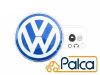 VW ニュービートル リアエンブレム 回転式 ブルー/ホワイト 純正品